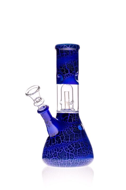 Black Leaf Glasbong mit Domperkolator blau 14,5