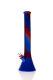 Silikon Bong Beaker rot-blau 44 cm