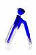 Blaze Mega-Vorkühler 6-Schlitz-Diffusor blau 18,8