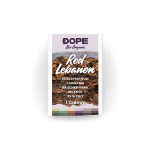 Dope Räucherharz Bio Red Lebanon 25% CBD 1g