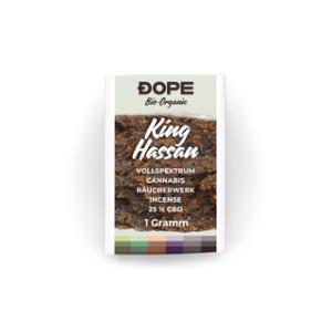 Dope Räucherharz Bio King Hassan 25% CBD 1g