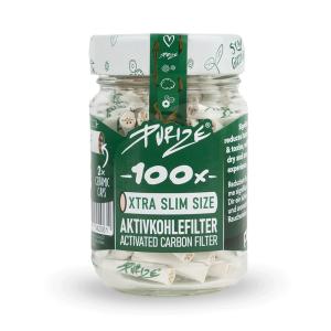 Purize XTRA Slim 100 Stück Aktivkohlefilter Ø...