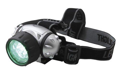 LED Kopfleuchte Grün Elektrox Stirnlampe