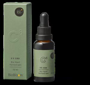 BioBloom Bio CBD Hanfextrakt NaturalEIGHT 8% CBD 30 ml