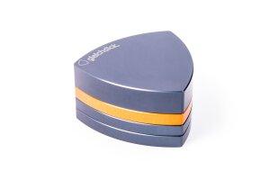 Gleichdick Alu Grinder 4-teilig Stahlblau/Orange