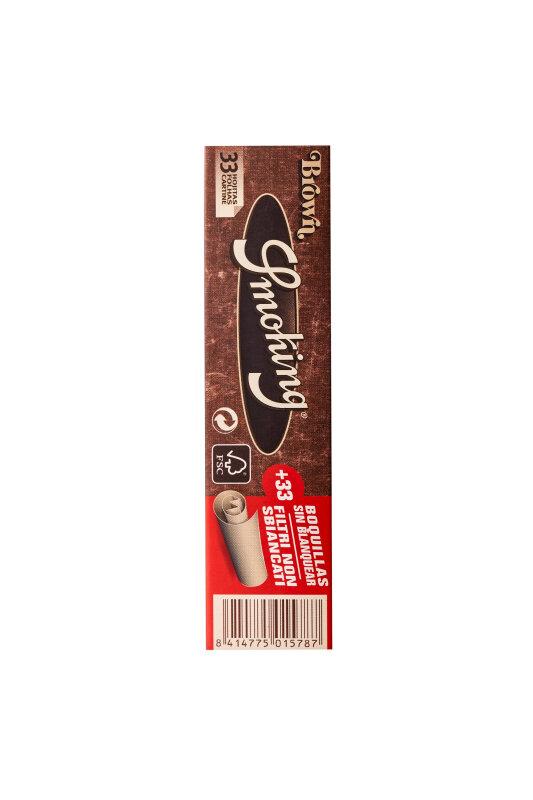Smoking Brown King Size slim + Tips