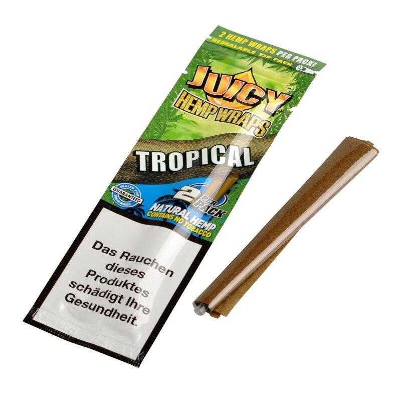 Juicy Jay´s Hemp Wraps Tropical 2 Stück