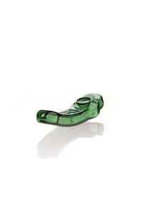 Ehle Handpfeife Glas gebogen grün