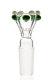 Plaisir Flutschkopf Doppelkrone grün-weiß 14,5