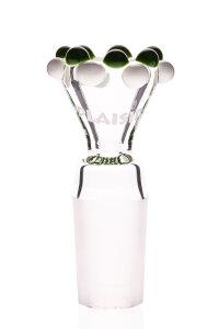 Plaisir Flutschkopf Doppelkrone grün-weiß 18,8