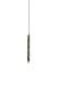 Bürste schwarz dünn Naturborste L=54cm