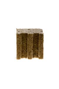 Steinwollwürfel Grodan Delta 10 x 10 x 6,5 cm großes Loch