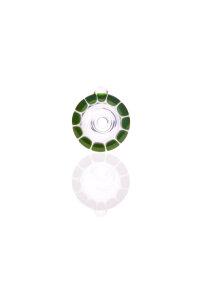 Zenit Flutschkopf Rasta grün/weiß 18,8