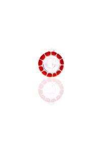 Zenit Flutschkopf Rasta rot/weiß 14,5