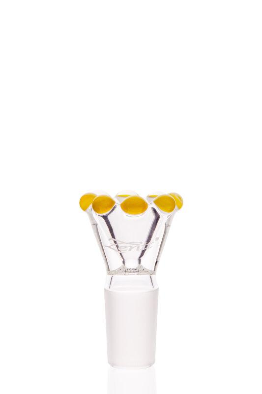 Zenit Flutschkopf Krone gelb 18,8