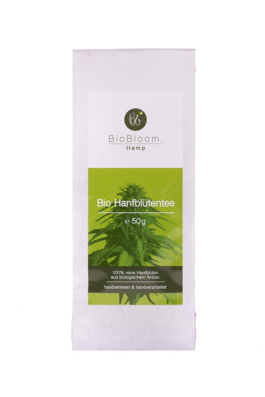 BioBloom Hanfblütentee Teesackerl 50 g